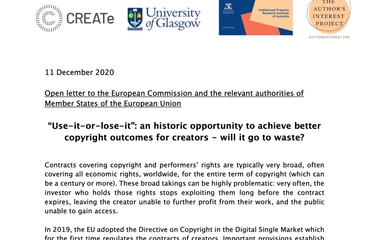 Lettera aperta a favore del diritto di revoca degli autori